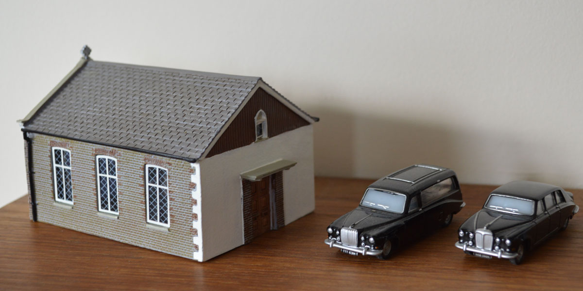 W.S. Cole and Son Funeral Directors Chapel of Rest Hornby model