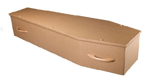 Cardboard coffin - W.S. Cole and Son Funeral Directors